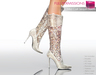 %50WINTERSALE Full Perm Mesh Women's Mid Calf Sequin Boots
