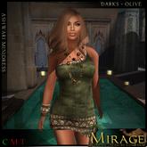=Mirage= Ashwari Dress - Dark - Olive