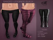 *MUKA* Banded Leggings Black (Omega)