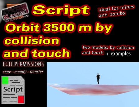Orbit 3500 m by collision and touch scripts