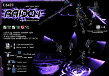 """*D&D* ZS8- Light Saber MK8 """"Raiden"""" (Boxed)"""