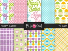 ::Pink Owl:: Happy Easter Textures  [10 Pack]