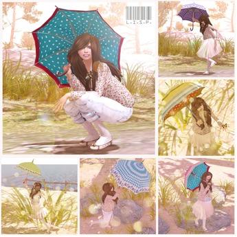 LISP Sunny Days & Rainy Days Umbrella Pose Set