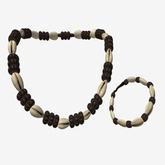 "[LS] Necklace Chain Africa ""cauri"" Male + Bracelet"