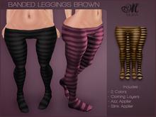 *MUKA* Banded Leggings Brown (Omega)