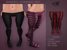 *MUKA* Banded Leggings Red (Omega)