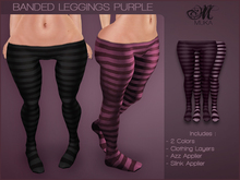 *MUKA* Banded Leggings Purple (Omega)