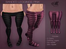 *MUKA* Banded Leggings Pink (Omega)