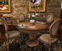BISTRO Dining Table COPY Round Pedestal Pine