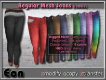 DEMO Regular Mesh Jeans w/HUD (female) ..:: EON ::..
