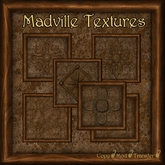 Madville Textures - Carved Ornamental Wood Frames, Brown Fantasy Stone