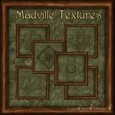 Madville Textures - Carved Ornamental Wood Frames, Green Fantasy Stone