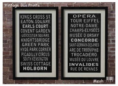 LISP - Charlotte Nerd Vintage Bus Prints
