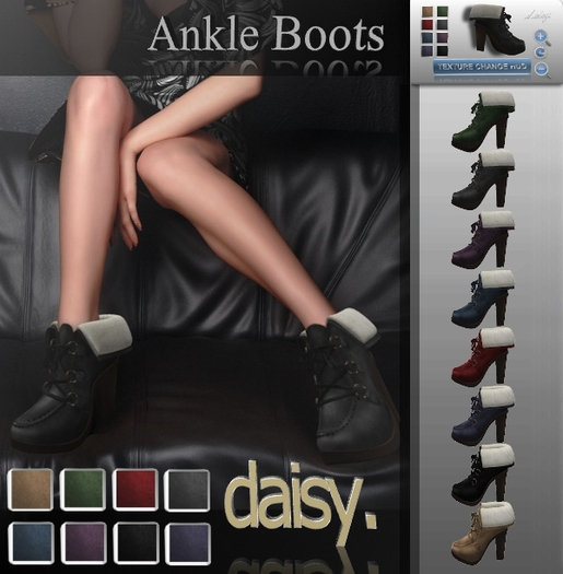 Free MESH Ankle Boots in 8 Colors (Dark Set) by DAISY Shop