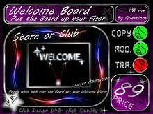 ** Welcome Board ** Laser Animation too **