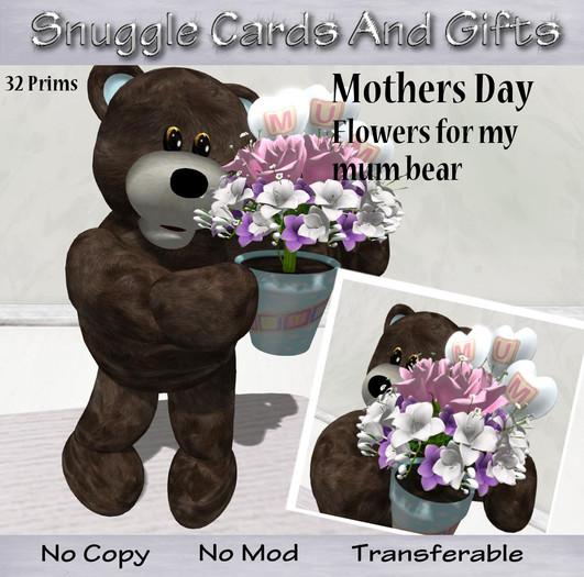 Flowers for my mum  Teddy bear
