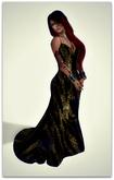 Isys Golden Long Tail Dress  - (tm) Freeky