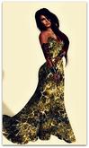 Isys Golden White Long Tail Dress  - (tm) Freeky