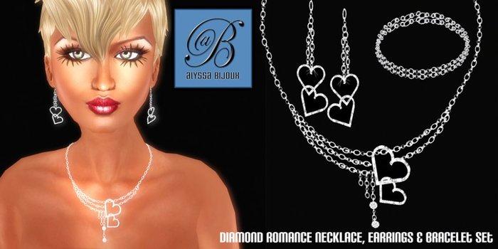 Alyssa Bijoux - Diamond Romance Necklace, Earring & Bracelet Set
