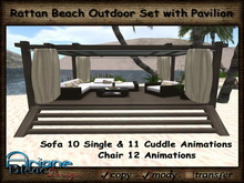 Sofa Set Rattan Wicker Beach Outdoor with Terrace Pavilion * PROMO PRICE *