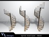Mesh Spiral Staircase
