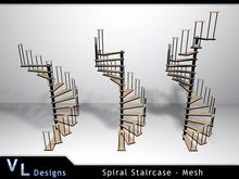 Mesh Spiral Staircase