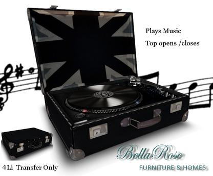 Bellarose Vintage Record Player Ainsley