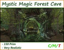 Magic Mystic Forest Cave ( Cavern Grotto Waterfall )