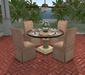 Bistro Travertine and Glass Patio Table COPY