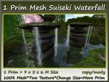 1 Prim Mesh Suiseki Waterfall 7x5x6m Size copy-mody