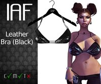 IAF Leather Bra (Black) (With Appliers)