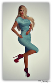 Kaly Drapped Dress Teal  - (tm) Freeky