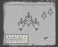Tangled Heart Candle Sconce Set (1 PRIM, COPY)