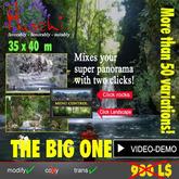 Wasserfall, Grotten, Landschafts-Wechsler!  Mehr als 50 verschiedene Variationen je nach Saison und Lust ändern!