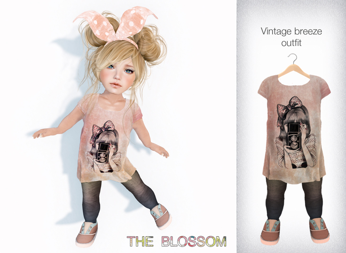 .The Blossom. Vintage Breeze outfit Toddleedoo avatars only!