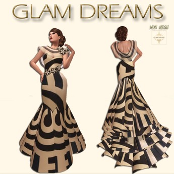 Glam Dreams Romance Gown ( Abstract )