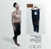 CREDO // KneeZip_Jeans_DARK