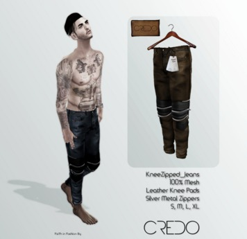 CREDO // KneeZip_Jeans_BROWN
