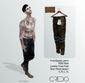 CREDO // KneeZip_Jeans_BROWN