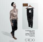 CREDO // KneeZip_Jeans_BLACK