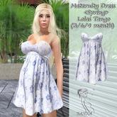Maternity Dress <Spring> /Lolas Tango Blue Flower