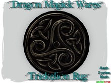 Dragon Magick Wares Mesh Triskelion Rug in Black