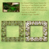 Vine Stained Glass Texture Frame Set