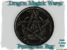 Dragon Magick Wares Mesh Pentagram Rug in Grey