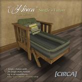 """[CIRCA] - """"Niven"""" Single's Futon - In Olive"""