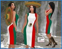 Mexico Long Mesh Dress ~ Cinco de Mayo