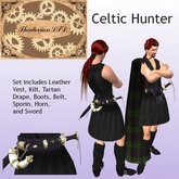 Thadovian LTD Leather Celtic Hunter Kilt outfit