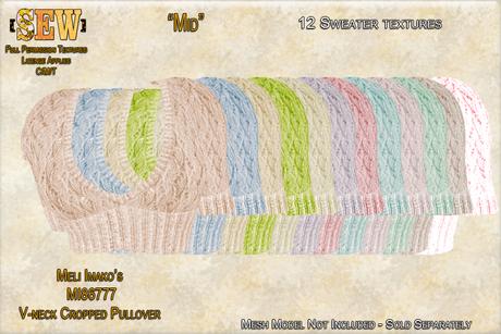 [SEW] FP Tex MI86777 V-neck Cropped Pullover Mid