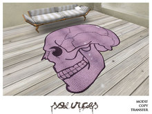 """RUG 1"" SKULL Mauve by ""Sources""  PG - MESH/PRIM - BOX - Copy and Modify"