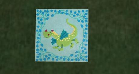 Devy's Creations Dragon Baby rug DC